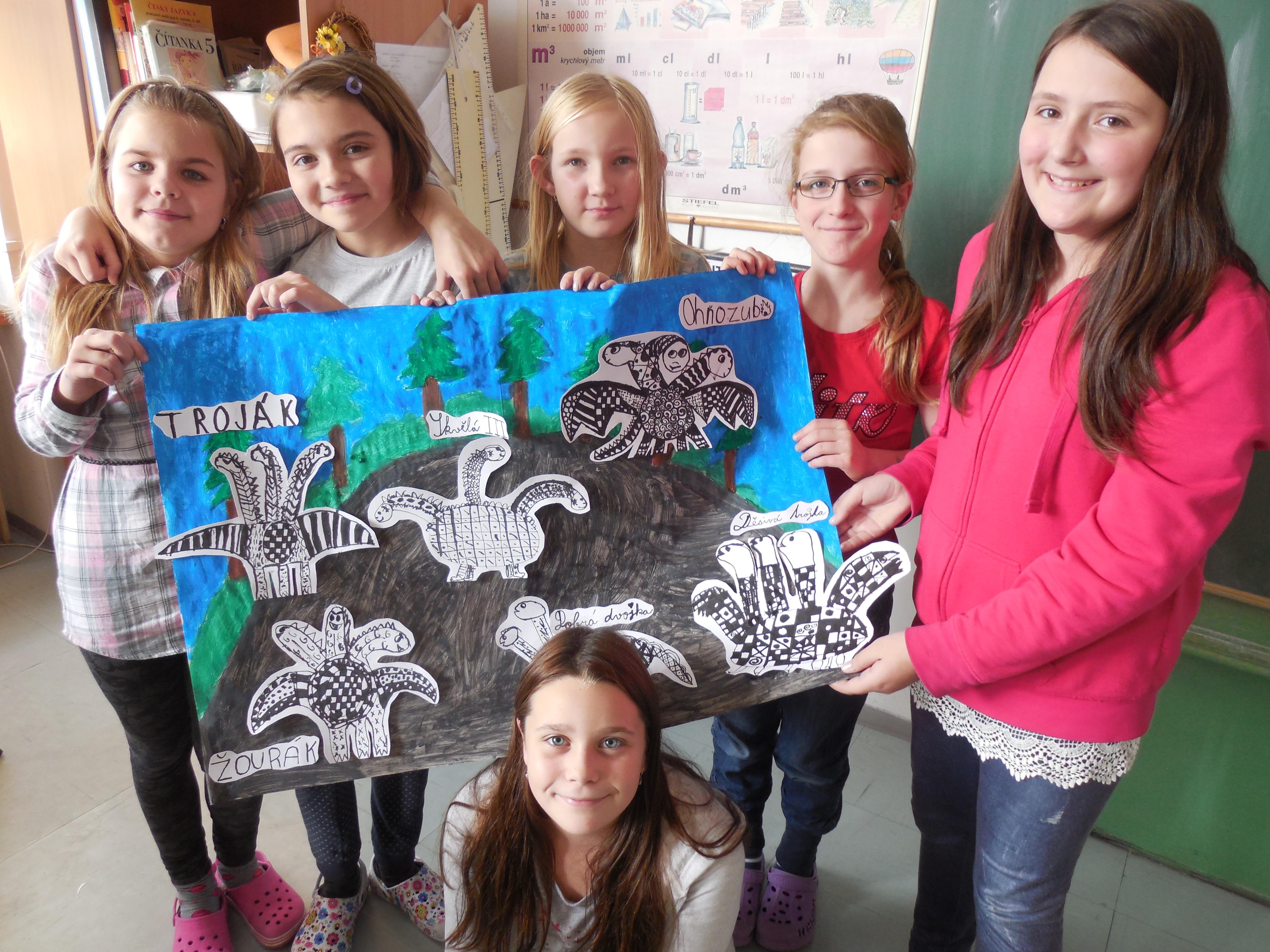 Draci Jeskyne Kresba Tusi 4 Zakladni Skola Plzen